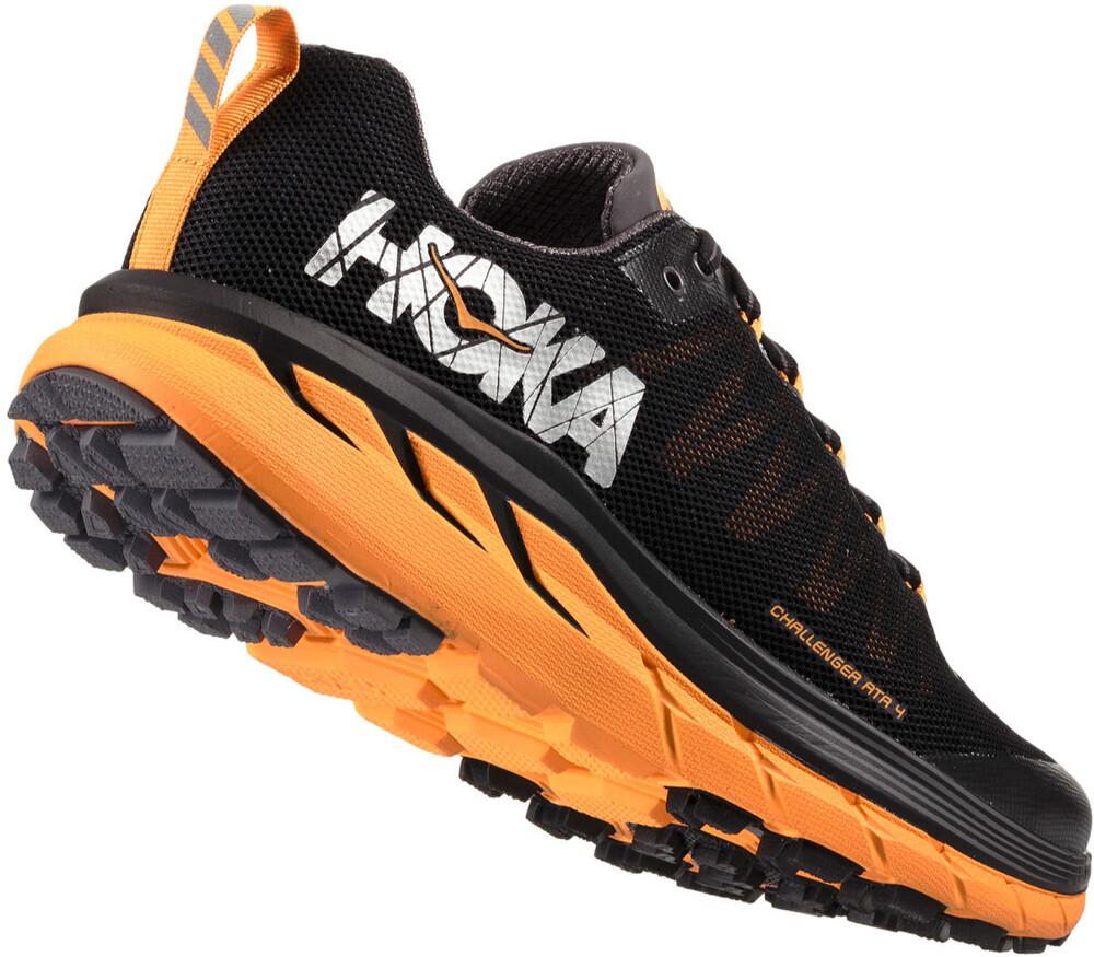HOKA one one Challenger ATR 3, Chaussures de Trail Homme, Noir (Black/Red Orange), 43 1/3 EU
